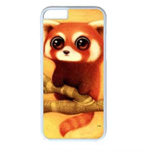 iCustomonline Bear Art Beautiful Hard Back PC White Case Skin Custom for iPhone 6 (4.7 inch)