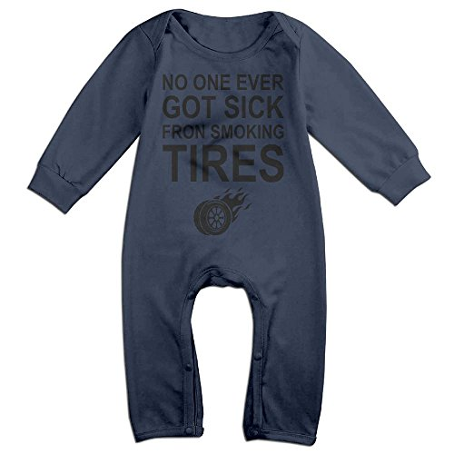 Price comparison product image Baby Climbing Clothing Baby Long Sleeve Garment No One Ever Got Sick Fron Smoking Tires For Baby Boys Girls
