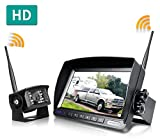 ZEROXCLUB Digital Wireless Backup Camera System Kit,No Interference,IP69 Waterproof Wireless Rear View Camera + 7'' LCD Wireless Reverse Monitor for Rv/Truck/Trailer/Bus/Pickup/Van (W01-7 inch)