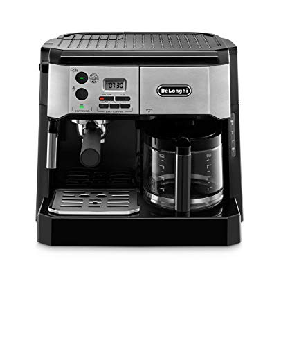 De'Longhi BCO430BM Combination Pump Espresso and 10c Drip Coffee Machine with Advanced Cappuccino System (Renewed)
