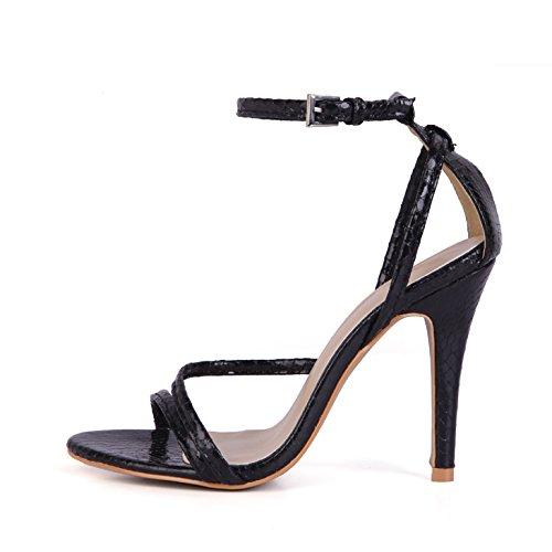 black CD scarpe che interessanti donna state traliccio estate e ZHZNVX snakeskin cinture da sono sexy scarpe donna nuovo banchetto Sandali wXzxqBZH