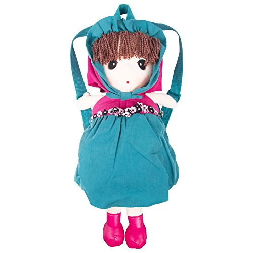 Toys for US Baby Kids Plush Cute Cartoon Girl Lovely Doll Backpack. Zipper Satchel Carrying Snacks Books Daypack/Travel Bag for Boys Girls Toddler Preschool Kids (Forest ()