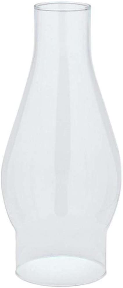 """Westinghouse 8306200 Handblown Clear Glass Chimney - 7-1/2"""" high x 2-5/8 fitter"""