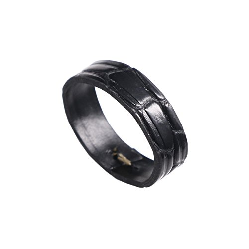15mm-black-watch-band-loop-replacement-of-circular-grain-deluxe-south-american-crocodile-leather