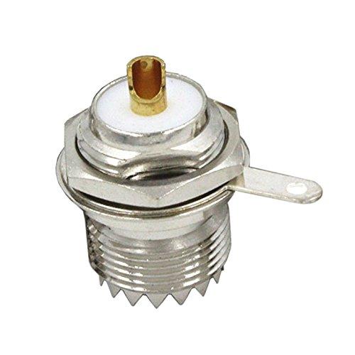 SODIAL(R) UHF Female SO239 Jack Bulkhead Solder Panel Mount RF Straight Connector,silver