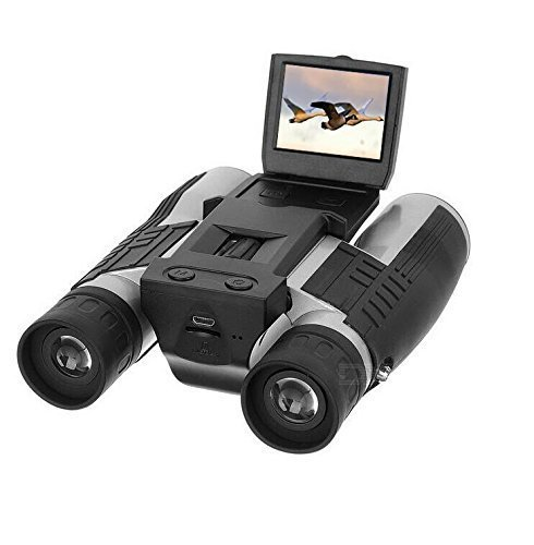 Eoncore 2″ LCD Display Digital Camera Binoculars 12×32 5MP Video Photo Recorder Digital Camera Telescope for Watching Bird, Football Game with 8GB TF Card