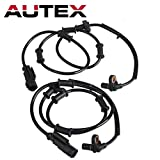 Autex 2Pcs ABS Wheel Speed Sensor Front Left or Right abs wheel speed sensor wire harness 52122425AC 52122425AB ALS1958 Compatible with Ram 2500 & Ram 3500 09 10/Ram 2500 & 3500 2011 5.7L 6.7L