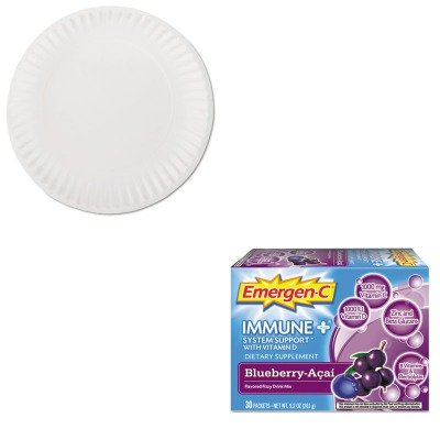 KITAJMPP9GREWHALA100007 - Value Kit - Emergen-C Immune Formula (ALA100007) and Green Label PP9GREWH White Uncoated Paper Plates, 9quot; (AJMPP9GREWH)