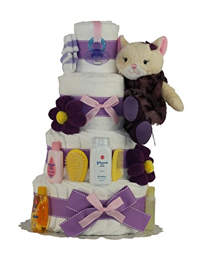 Fashion Kitty Diaper Cake