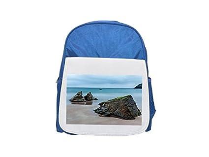 Mar, Escocia, resto, Rock, playa, Costa impreso Kid s azul