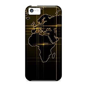 New Saraumes Super Strong World Gold Tpu Case Cover For Iphone 5c