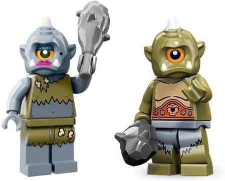 Lego Cyclops (Series 9) & Lego Lady Cyclops (Series 13)