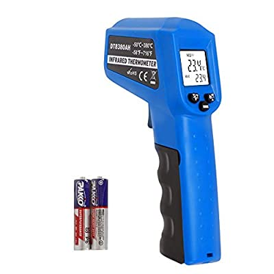 Infrared Thermometer Temperature Gun -58?~ 716? (-50? ~ 380?) Non-Contact Instant-Read Digital Laser Infrared Ir Thermometer with Backlight (Blue)