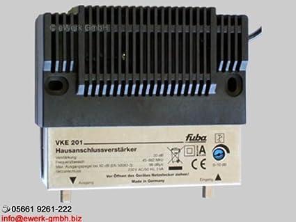 Fuba VKE 201 Casa Conector de amplificador con amplificación de 20 dB