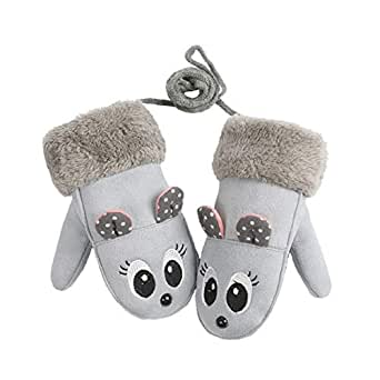 Amazon.com: Toddler Baby Girl Leather Warm Winter Mittens