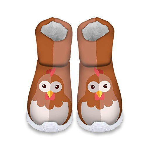 FOR U DESIGNS Cute Hen Print Children Cozy Short Ankle Snow Boots US 11.5 by FOR U DESIGNS (Image #2)