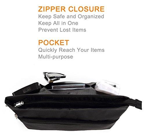 Lunra fourre à poches dans main tout Organiseur fermeture Insert Sac glissière Sac Sac à main multi sac à qwrazq