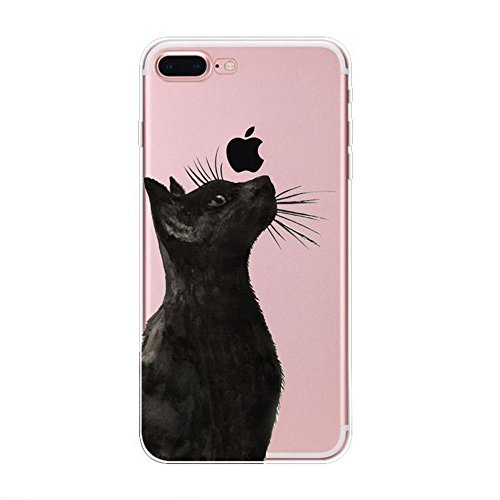 Price comparison product image For iPhone 7 Case, Maetek Soft TPU Shockproof Rubber Skin Gel Bumper lovely Cat Pattern Ultra Slim Crystal Clear Cover for iphone 7-Pattern 13