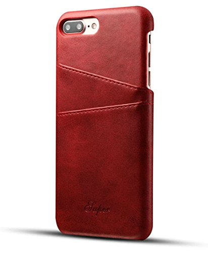 iPhone 7 Plus Leather Case,Iphone 7 Plus Premium PU Leather Wallet Case with Credit Card ID Holders,Business Style Fashion Print PU Leather Case Back Cover