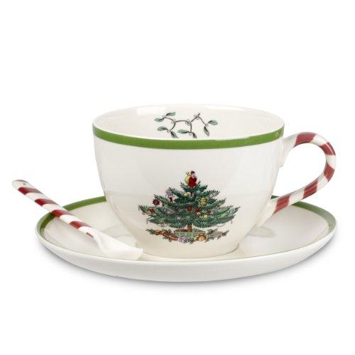 Christmas Cup Jumbo Tree (Spode Christmas Tree Peppermint Jumbo-Cup and Saucer)