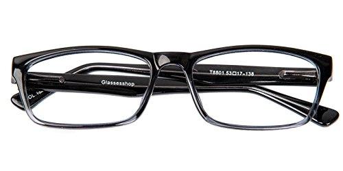 Glassesshop Classic Vintage Inspired Rectangular Clear Lens Prescription Eyeglasses - Prescription Get Frames Lenses For