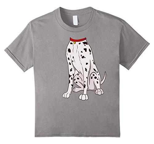 Kids Dalmatian Costume T-Shirt for Halloween Dog Animal Cosplay 8 Slate (Halloween Tee Shirts For Dogs)