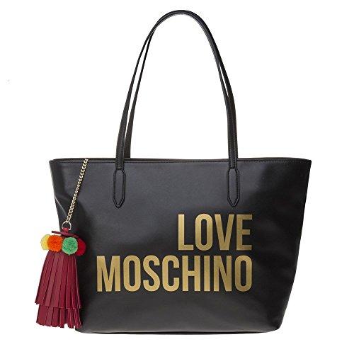 LOVE Moschino Women's Love Moschino Tote w/ Tassel Black One Size by Love Moschino