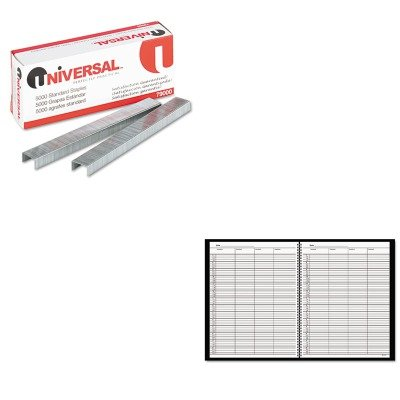 (KITAAG8031005UNV79000 - Value Kit - At-a-Glance Recycled Four-Person Group Undated Daily Appointment Book (AAG8031005) and Universal Standard Chisel Point 210 Strip Count Staples (UNV79000))