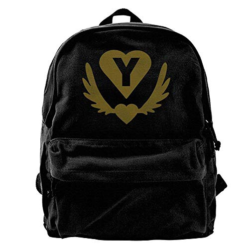 NOLIEE Y Winged Heart Heart Outdoor Backpack School Bags Travel Backpack Canvas Christmas Backpack Unisex Boys And Girls (Winged Heart Handbag)