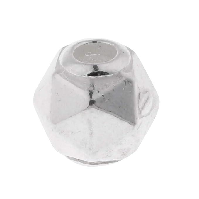 a85d1e33f293 IPOTCH Granos de Plata Esterlina de Gran Orificio para Hacer Collares