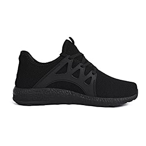 Feetmat Womens Sneakers Ultra Lightweight Breathable Mesh Athletic Running Shoes Plus Size 9.5 Black