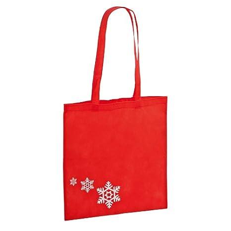 DISOK Lote de 50 Bolsas de la Compra Motivo Navidad - Ideal ...