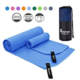 Relefree Microfiber Camping Towel, 2 Sizes Sports, Travel, Camping Towel, XL(60x30'') & XS(24X15''), Quick Dry, Ultra Absorbent, Suitable for Fitness, Camping, Swimming, Backpacking
