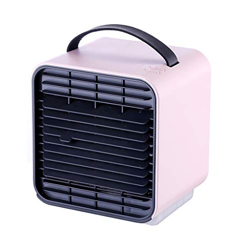 Personal Space Mini Air Conditioner, Yucode Portable USB Noiseless Air Cooler Humidifier Purifier Mini Evaporative Fan Pink