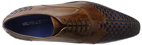 Melvin & HamiltonLewis 17 - Zapatos Planos con Cordones Hombre Braun (Classic Tan / Interlace E-Blue, Ls Brw)