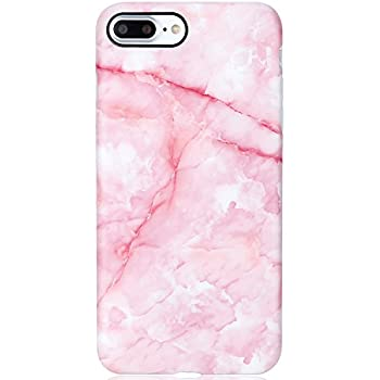 Marble iPhone 7 Plus Case Pink for Girls,iPhone 8 Plus Case,VIVIBIN Shock Absorption Matte TPU Soft Rubber Silicone Cover Phone Case for iPhone 7 Plus/ 8 Plus 5.5inch