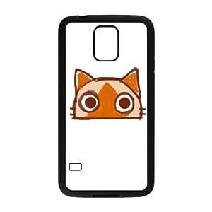 Samsung Galaxy S5 Teléfono Funda Caso de la cubierta Negro O6N7IS Cat teléfono celular Funda de plástico cubierta de la caja