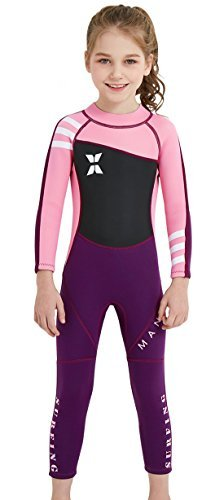 4c6d085f19 DIVE & SAIL Wetsuits for Kids Boys Girls Rash Guard One Piece Diving  Swimsuit UV Protection Coloful Swimwear Pink XL