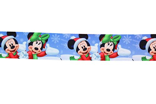 2m x 22mm BLUE MICKEY /& FRIENDS AT CHRISTMAS GROSGRAIN RIBBON FOR CAKES CHRISTMAS CAKES GIFT WRAP WRAPPING RIBBON HAIR BOWS CARDS CRAFT XM19