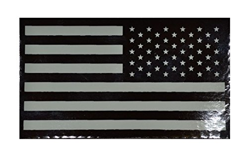 Infrared (IR) American Flag, Reverse Facing 2x3.5 Patch - White (Infrared Unit Patch)