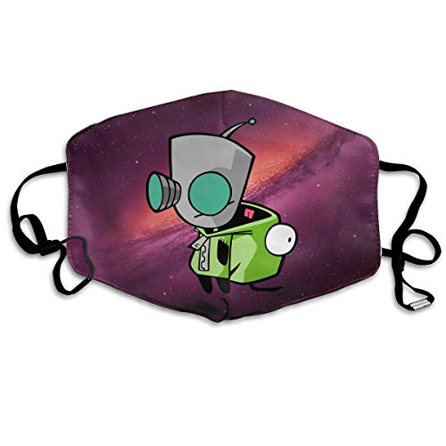 Rolvsx Invader Zim Gir Doom Logo Unisex Mouth-Muffle Original Mask Dust-Proof Anti-Haze Earloop Face -