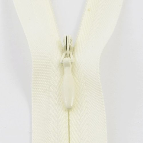 Nova SC33/12/IVRY Ivory 1502 Nylon Concealed Closed End Invisible Zip 12in 30cm