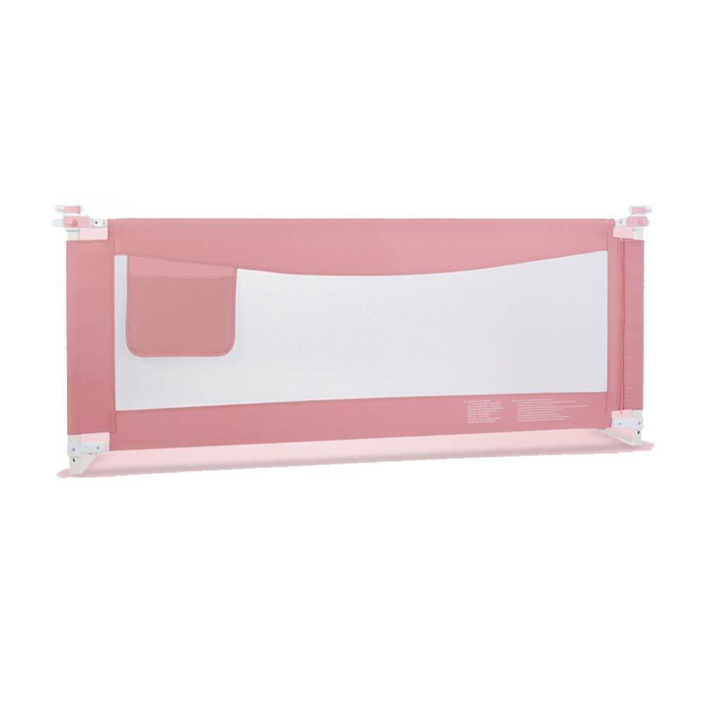 LHA ベッドガードフェンス ベッドガード、ポータブルと折り畳み式ベッドレール150,180,200 Cm X 86 Cm、グリーン、ピンク (色 : Pink, サイズ さいず : L-180cm) L-180cm Pink B07HT3P2C3