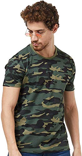 Wear Your Opinion WYO Men's Tshirt with Camouflage Style  Half Sleeve Tshirt  All Over Print  Military Army Stylist…
