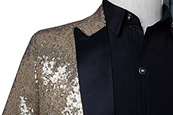616068a6 MAGE MALE Mens Sequin Tuxedo Jacket Tails Slim Fit Tailcoat Dress Coat  Swallowtail Dinner Party Wedding