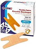 Flexible Fabric Bandages - Flex Fabric Adhesive Bandages Knuckle Bandages for Finger Care and to Protect Wounds from Infection - (100 Count Box)