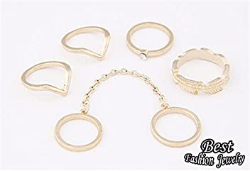 Bosun(TM) Female Ring Set 5 Pieces Exquisite Summer Accessory In Party Girls Best