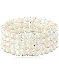 Bella Pearl Triple Row Stretch Bracelet