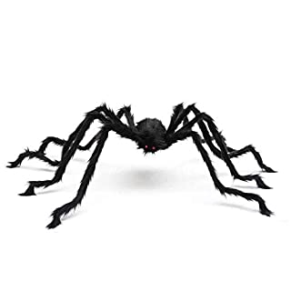 Trisea Squishies Giant Spider for Halloween Decoration, 5FT 1.5M 59INCH Large Hairy Fake Spider Props, Scary Halloween Spider Decoration Outdoor Indoor House Party Yard