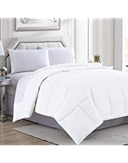 Goose Down Alternative Microfiber Quilted Solid Comforter/Duvet Insert - Ultra Soft Hypoallergenic Bedding - Medium Warmth for All Seasons